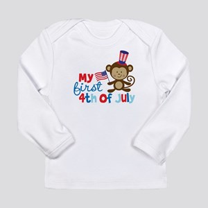 Monkey My First 4th of July Long Sleeve Infant T-S