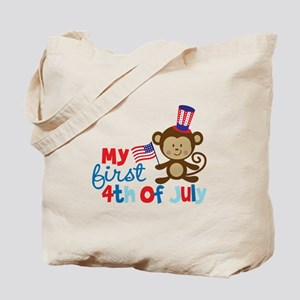 Monkey My First 4th of July Tote Bag