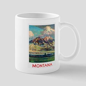 Montana Travel Poster 4 Mug