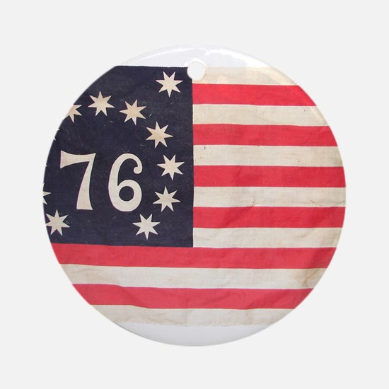 Flag of Bennington III.psd Ornament (Round)