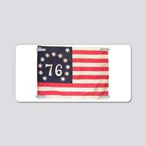 Flag of Bennington III Aluminum License Plate