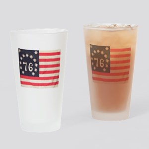 Flag of Bennington III Drinking Glass