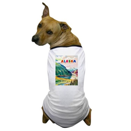 Alaska Travel Poster 2 Dog T-Shirt