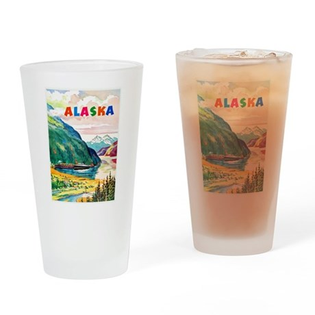 Alaska Travel Poster 2 Drinking Glass