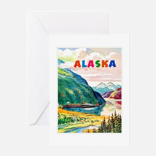 Alaska Travel Poster 2 Greeting Card