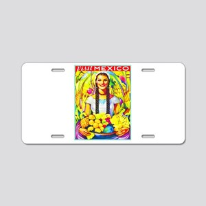 Mexico Travel Poster 7 Aluminum License Plate