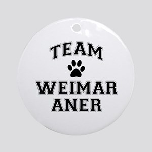 Team Weimaraner Ornament (Round)