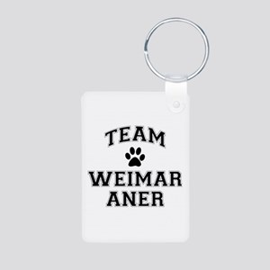 Team Weimaraner Aluminum Photo Keychain