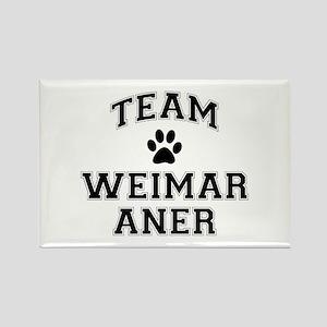 Team Weimaraner Rectangle Magnet