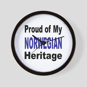 Proud Norwegian Heritage Wall Clock