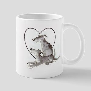 Scottish Deerhounds in Heart Mug