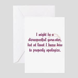 disrespectfulyarnster Greeting Card