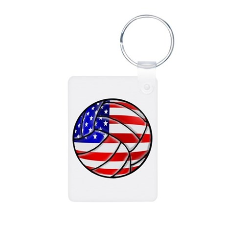 USA Volleyball Aluminum Photo Keychain