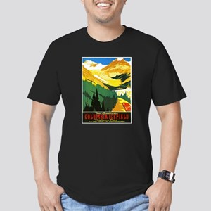 Canada Travel Poster 7 Men's Fitted T-Shirt (dark)