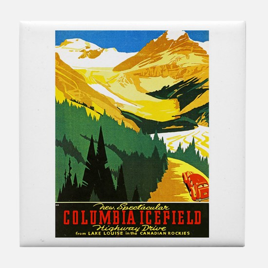 Canada Travel Poster 7 Tile Coaster