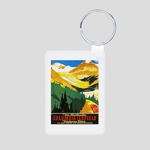 Canada Travel Poster 7 Aluminum Photo Keychain