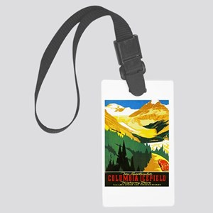 Canada Travel Poster 7 Large Luggage Tag