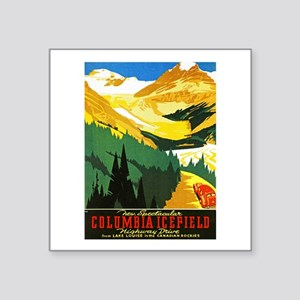 "Canada Travel Poster 7 Square Sticker 3"" x 3"""