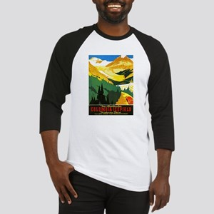 Canada Travel Poster 7 Baseball Jersey