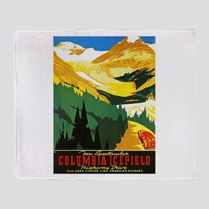 Canada Travel Poster 7 Throw Blanket
