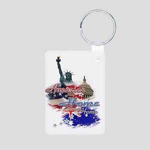 USA - Australia: Aluminum Photo Keychain