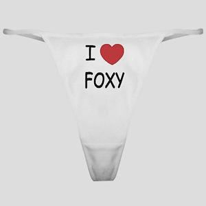 I heart FOXY Classic Thong