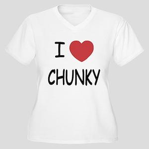 I heart CHUNKY Women's Plus Size V-Neck T-Shirt