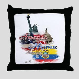 USA - Ecuador: Throw Pillow