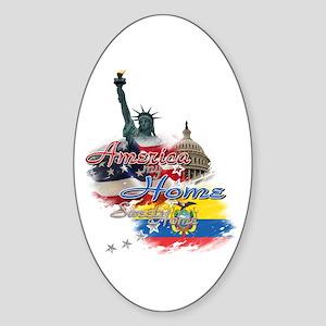 USA - Ecuador: Sticker (Oval)