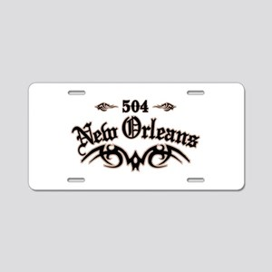 New Orleans 504 Aluminum License Plate