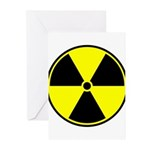Radioactive sign1 Greeting Cards (Pk of 10)