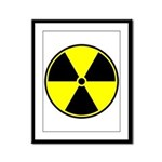 Radioactive sign1 Framed Panel Print