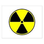 Radioactive sign1 Small Poster
