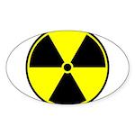 Radioactive sign1 Sticker (Oval 10 pk)