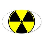Radioactive sign1 Sticker (Oval)