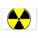 Radioactive sign1 Sticker (Rectangle)
