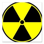 Radioactive sign1 Square Car Magnet 3