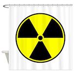 Radioactive sign1 Shower Curtain