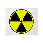 Radioactive sign1 Throw Blanket