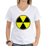 Radioactive sign1 Women's V-Neck T-Shirt