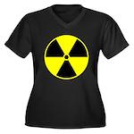 Radioactive sign1 Women's Plus Size V-Neck Dark T-