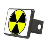 Radioactive sign1 Rectangular Hitch Cover