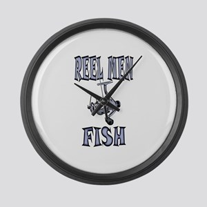REEL MEN Large Wall Clock