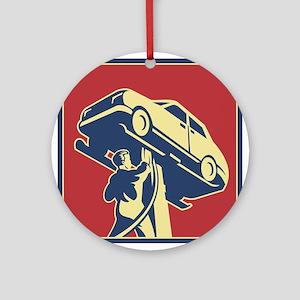 Mechanic Technician Car Repair Retro Ornament (Rou
