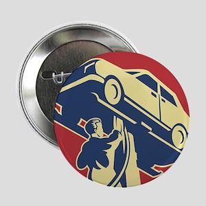 "Mechanic Technician Car Repair Retro 2.25"" Button"