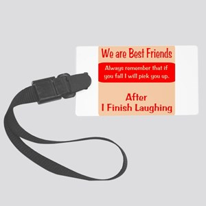 Best Friends Large Luggage Tag