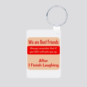 Best Friends Aluminum Photo Keychain