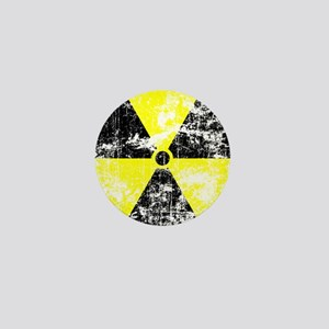Heavy Distressed Radioactive sign1 Mini Button