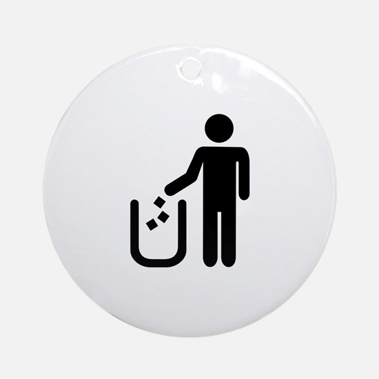 Litter waste garbage Ornament (Round)