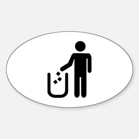 Litter waste garbage Sticker (Oval)